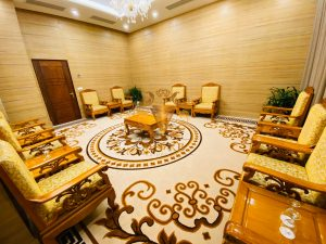 Thảm cao cấp Nylon in hoa được sử dụng cho phòng chờ khách