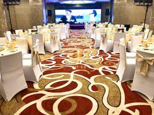 Trung tâm tiệc cưới sử dụng thảm cao cấp Axminster của MHKB