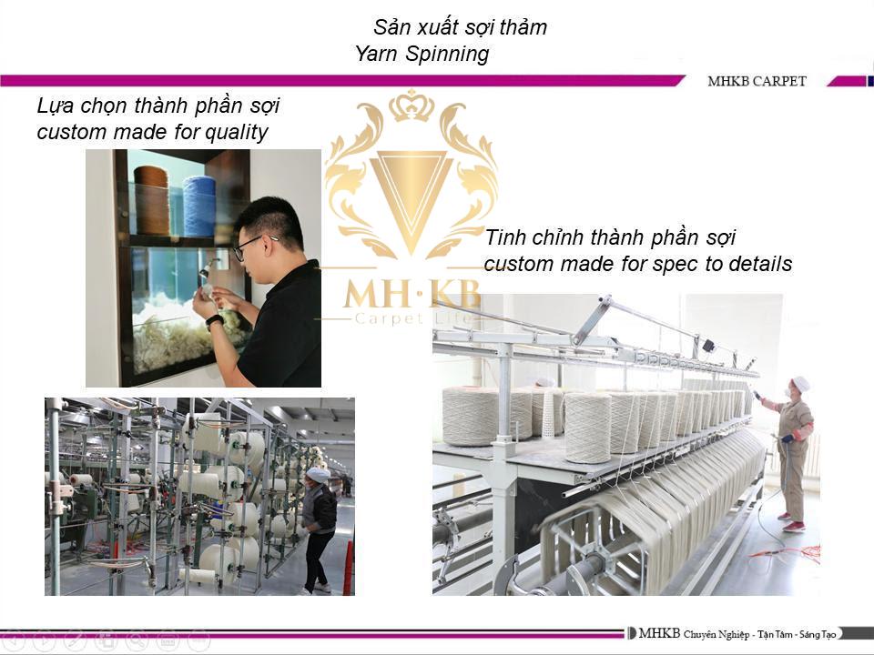 Dây chuyền máy móc sản xuất hiện đại tại xưởng của MHKB